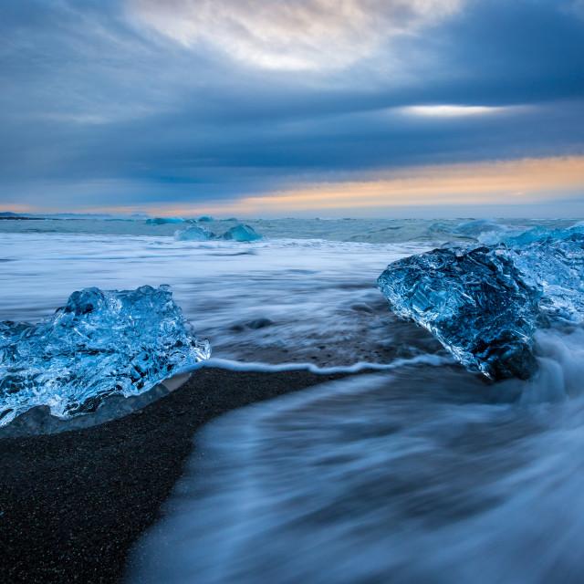 """""""Breiðamerkursandur beach"""" stock image"""