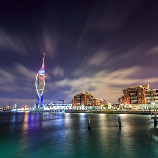 """Spinnaker Tower and Portsmouth waterfront"" stock image"