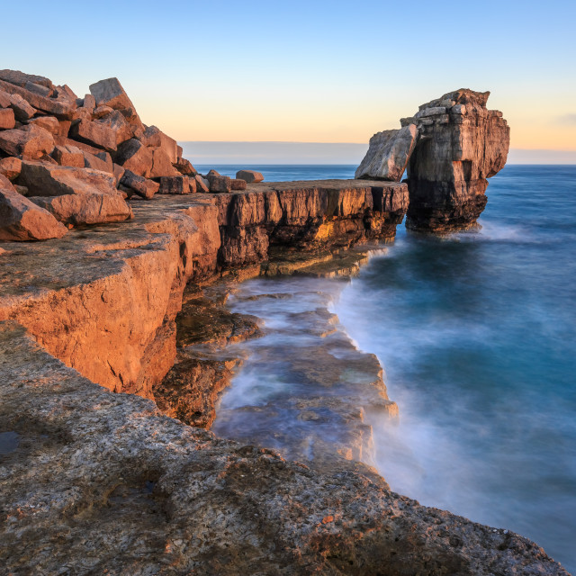 """Pulpit Rocks golden hour"" stock image"