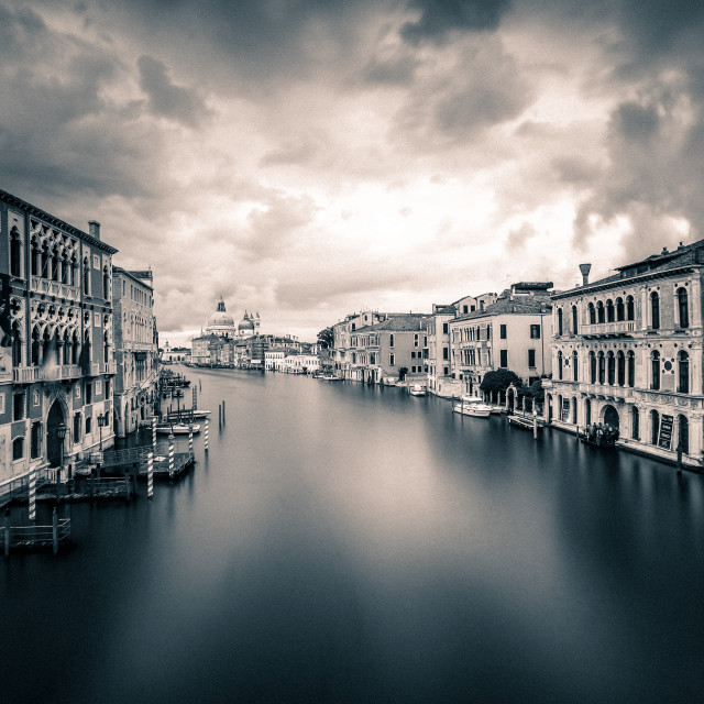 """Grand Canal mono"" stock image"