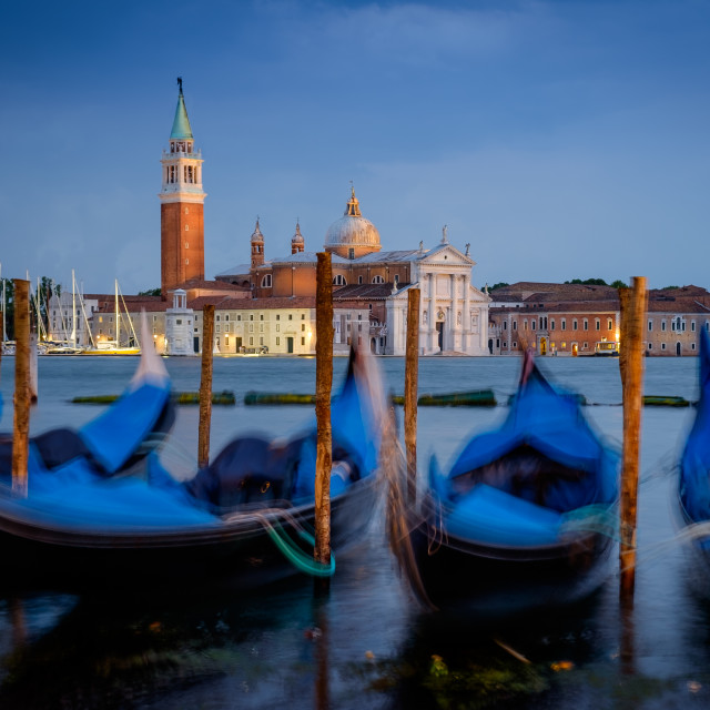 """""""San Giorgio Maggiore by night"""" stock image"""