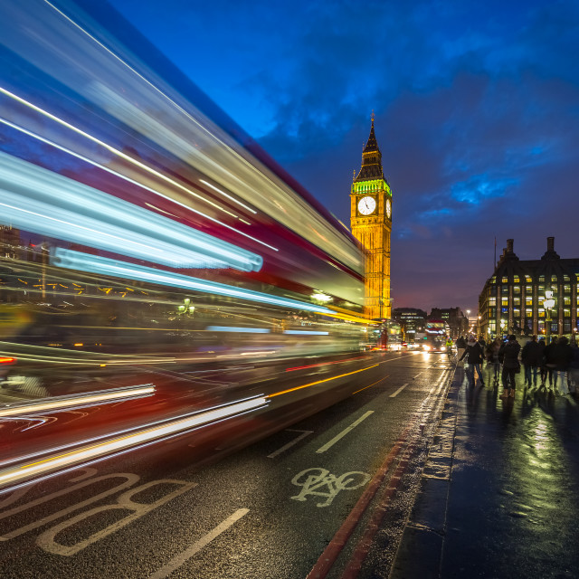 """Westminster bus home"" stock image"
