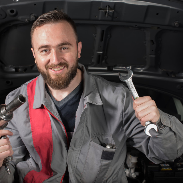 """happy mechanic"" stock image"