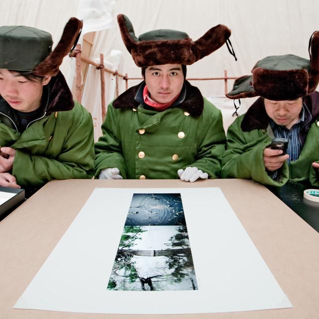 """""""Mongolian Helpers"""" stock image"""