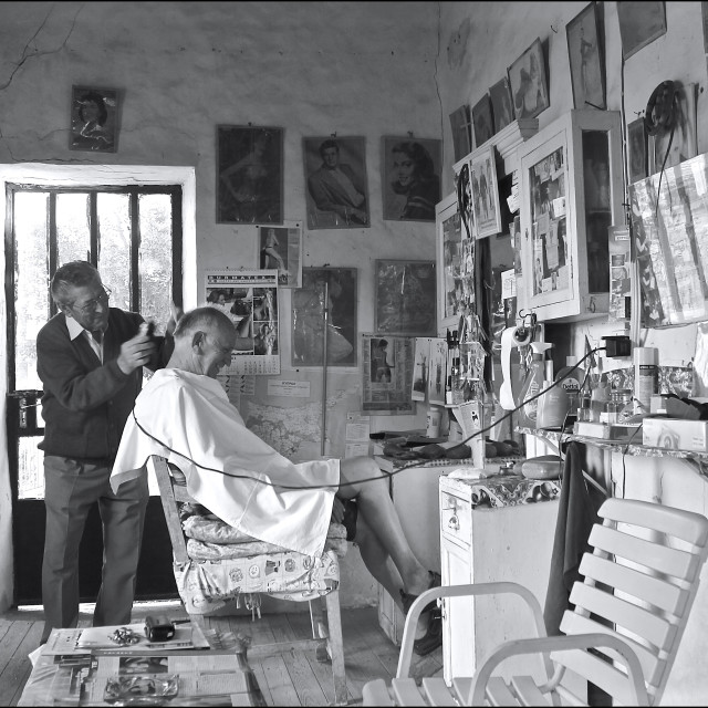 """""""The Barber of Anogyra"""" stock image"""