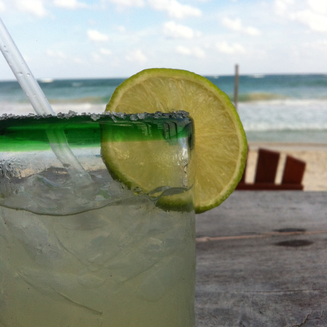 """""""Drink on the beach"""" stock image"""