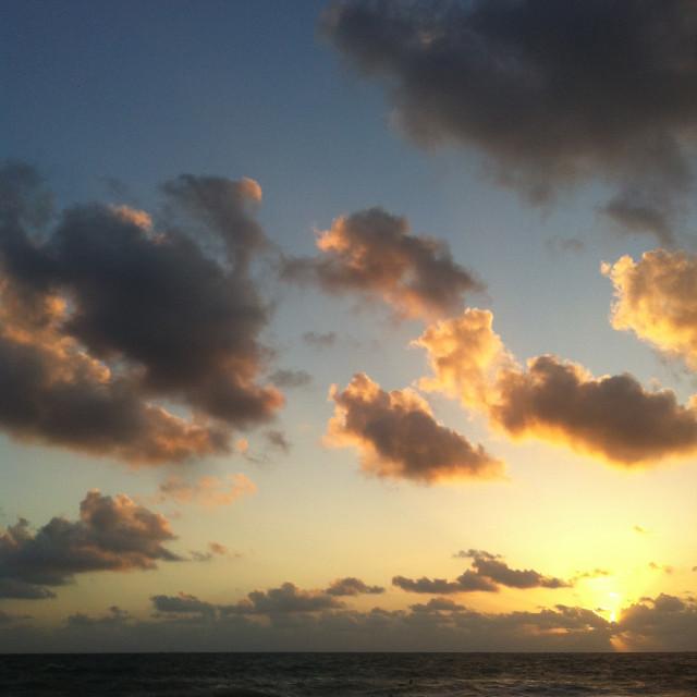 """Sunrise in Mayakoba"" stock image"
