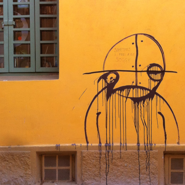 """""""Street art in Valparaiso"""" stock image"""