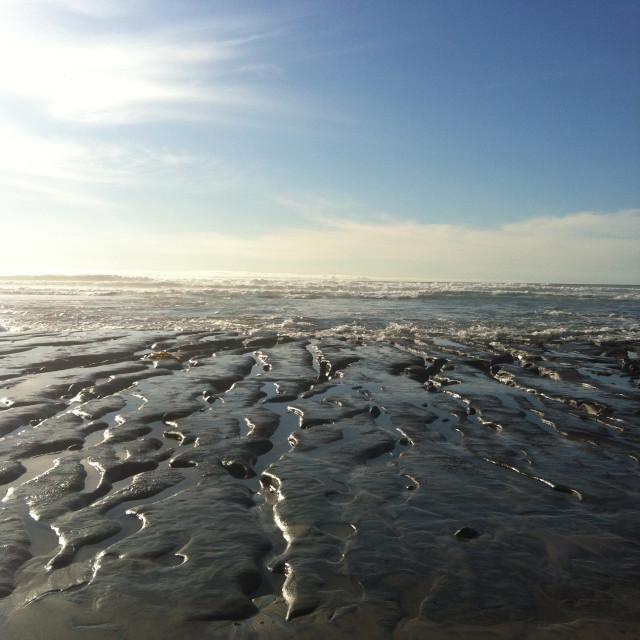 """Beach in Del Mar, California"" stock image"