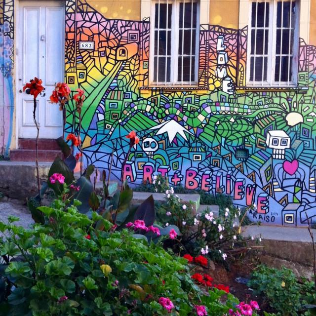 """Mural in Valparaiso"" stock image"