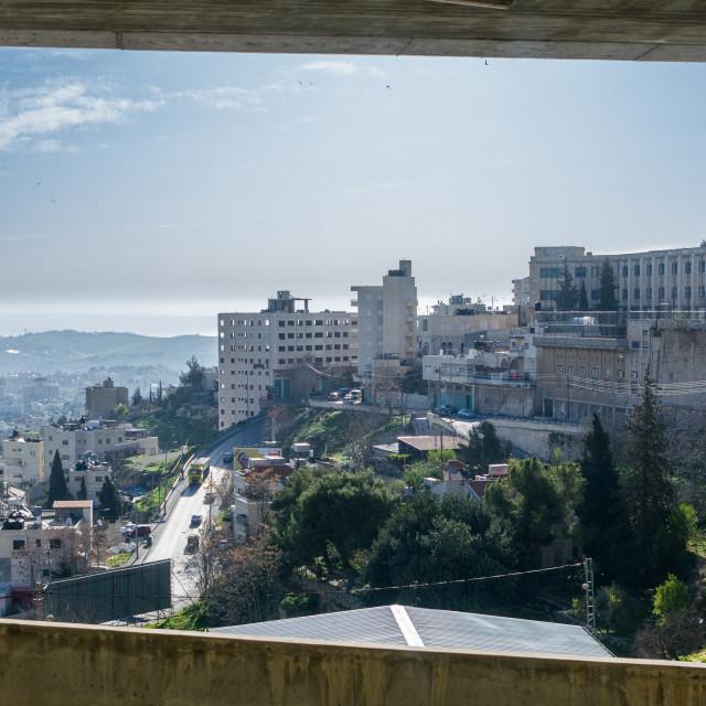 """View at Betlehem"" stock image"
