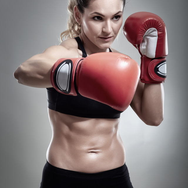 """""""Young woman boxer"""" stock image"""