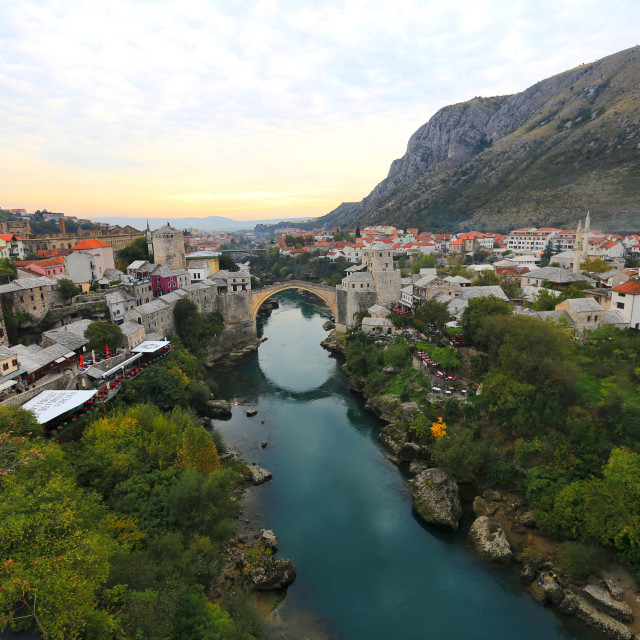 """Stari Most - Old Bridge in the city of Mostar Bosnia-Herzegovina"" stock image"