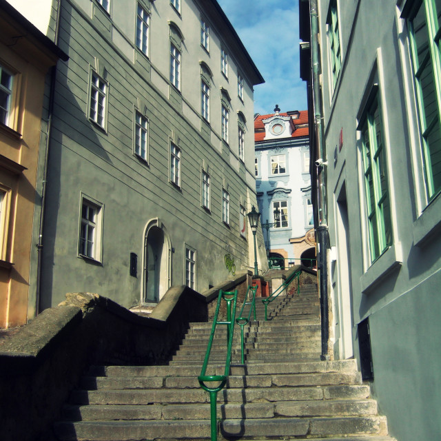 """Jansky stairs, Prague - 2"" stock image"