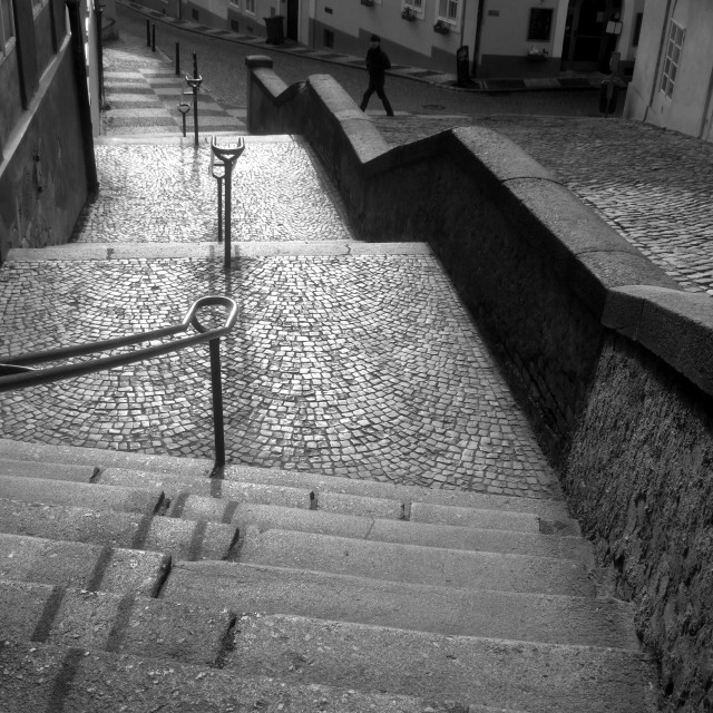"""Jansky stairs, Prague - 3"" stock image"