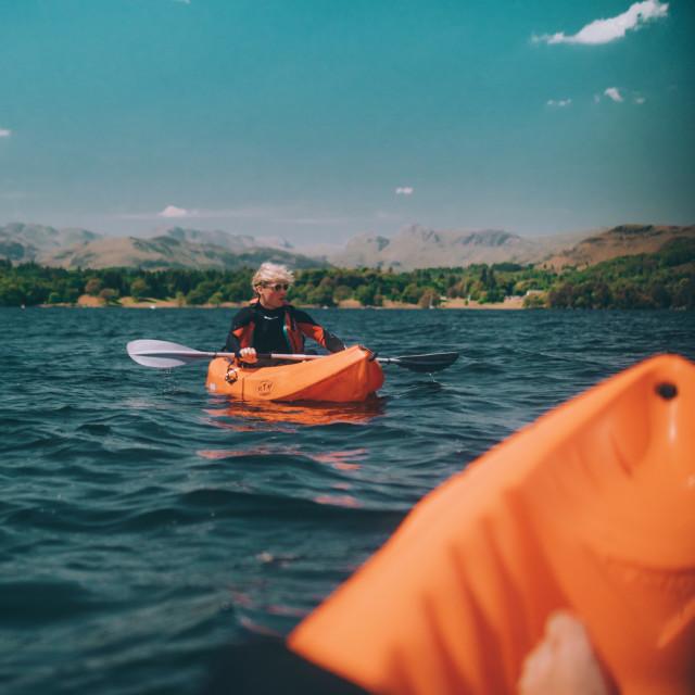 """""""Sunshine on Lake Windermere"""" stock image"""