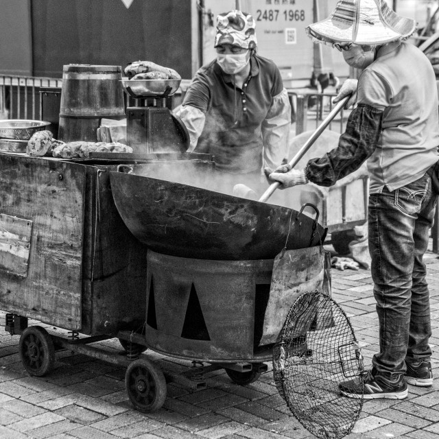 """Street kitchen in Hong Kong"" stock image"