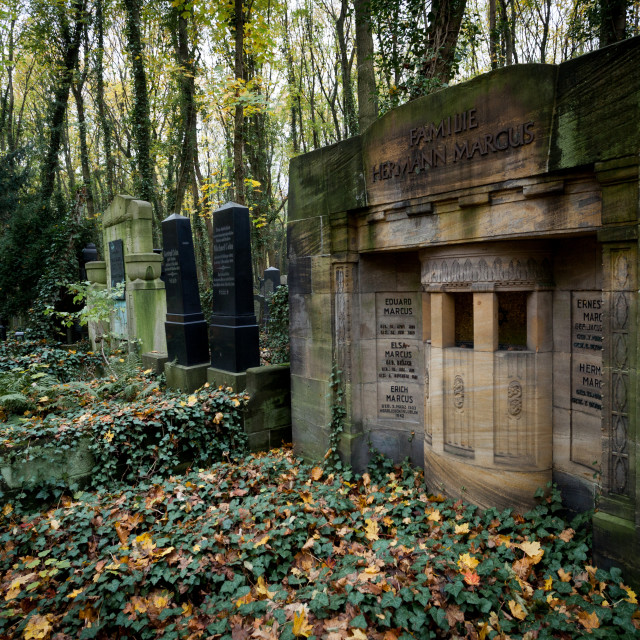 """Weissensee Jewish Cemetery in Berlin"" stock image"