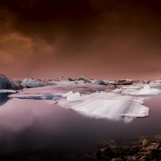 """""""Jokulsarlon Lagoon"""" stock image"""