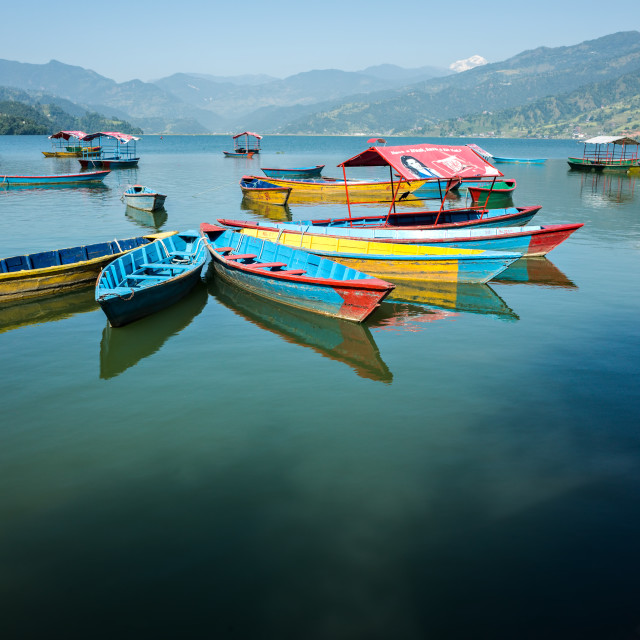 """Phewa Lake, Pokhara"" stock image"