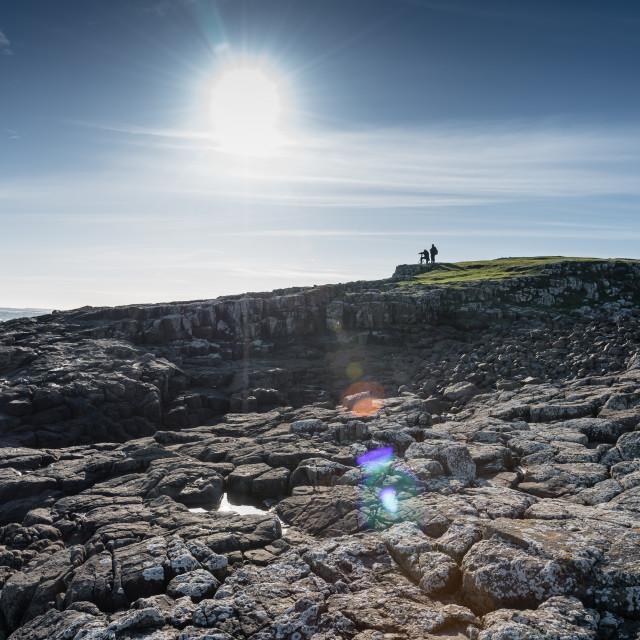 """Northumberland Coastline"" stock image"