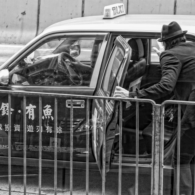 """Taxi in Hong Kong"" stock image"
