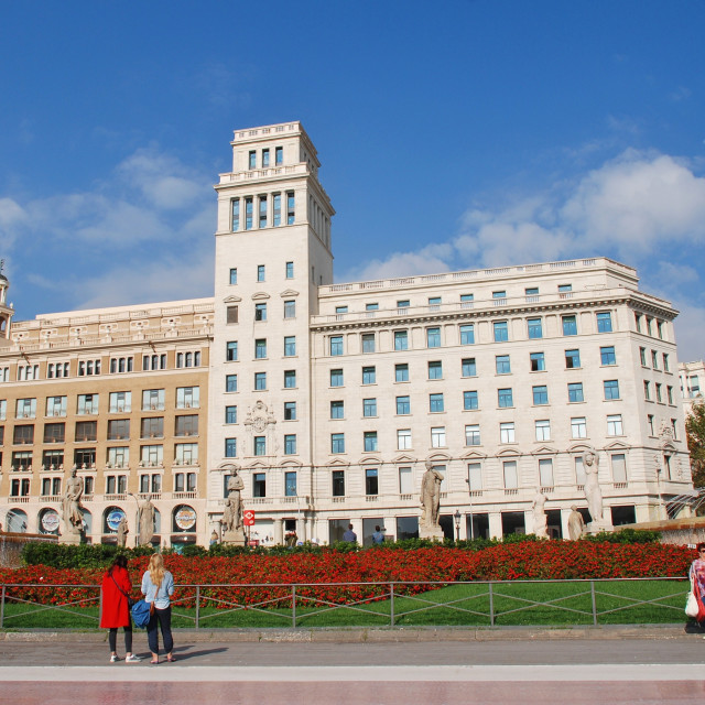 """Placa de Catalunya, Barcelona"" stock image"