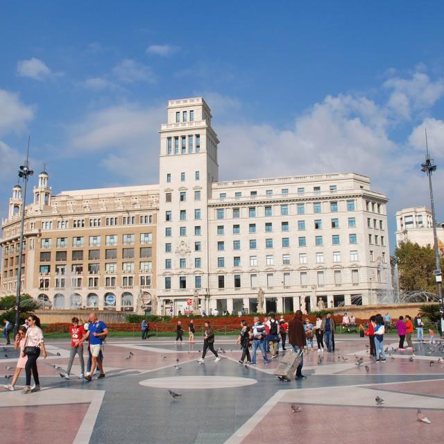 """Plaza de Cataluna, Barcelona"" stock image"