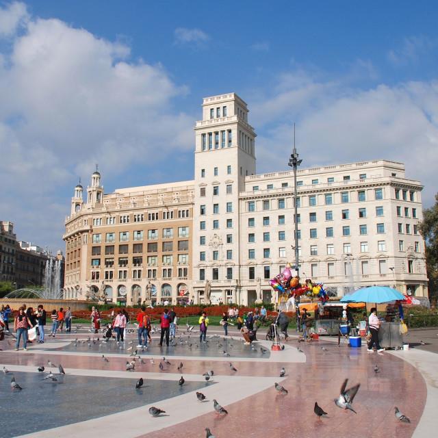"""Catalonian Square, Barcelona"" stock image"