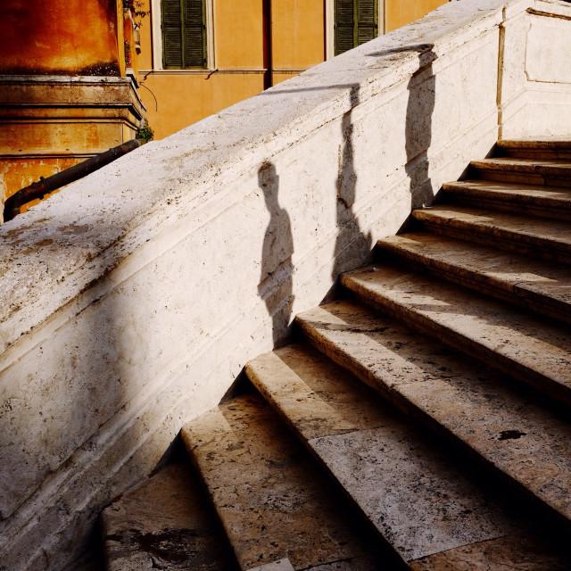"""Spanish steps Rome"" stock image"