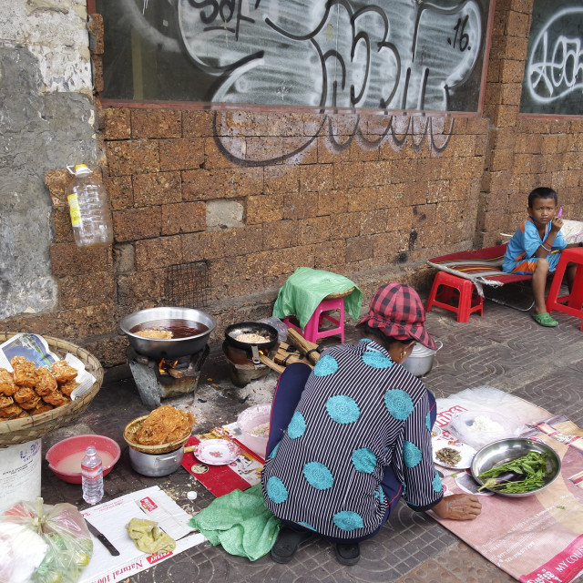 """""""Street food Cambodian style"""" stock image"""