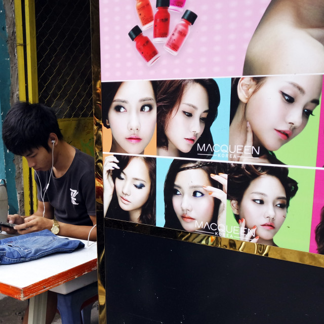 """Street tailor, Saigon."" stock image"