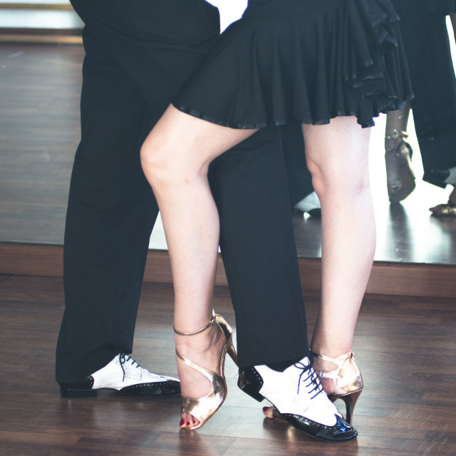 """Ballroom dance dancers"" stock image"