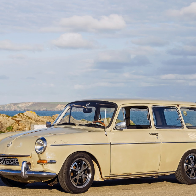"""""""Vw Variant at Little fistral"""" stock image"""