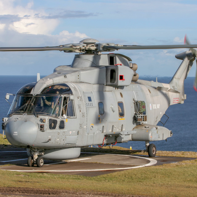 """Royal Navy Merlin"" stock image"