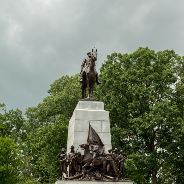 """Gettysburg National Battlefield Monument"" stock image"