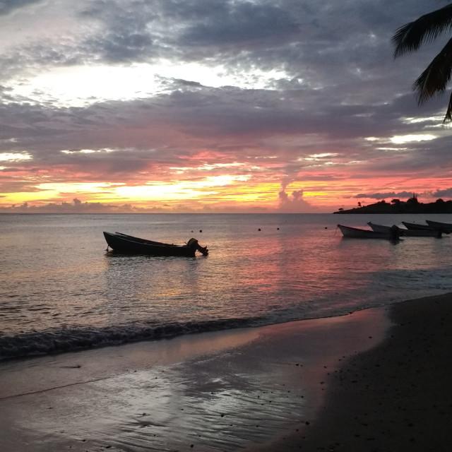 """St Lucia Sunset"" stock image"