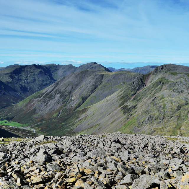 """Wasdale Head fells"" stock image"