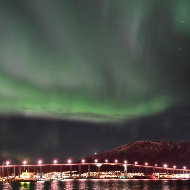 """Aurora over Tromso"" stock image"