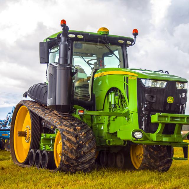 """""""John Deere tractor"""" stock image"""