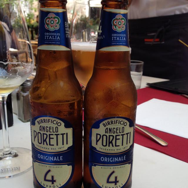 """Poretti Beer"" stock image"