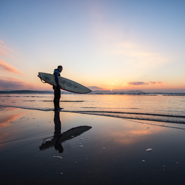 """Winter sunset surf"" stock image"
