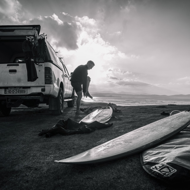 """Donegal surf"" stock image"