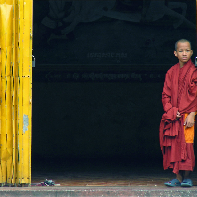 """Novice monk ."" stock image"