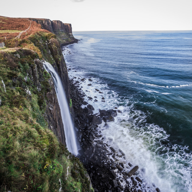 """Kilt Rock and Mealt Falls"" stock image"