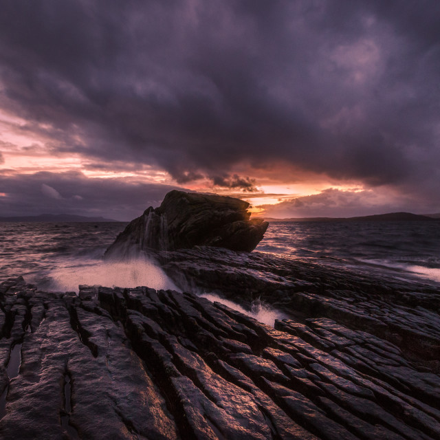 """Elgol, ""the weeping Swan"""" stock image"