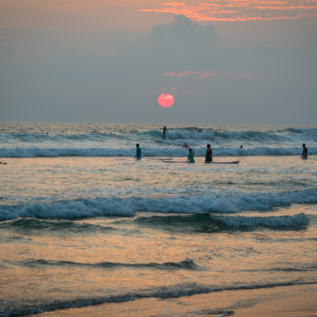 """Sunset Sri Lanka"" stock image"