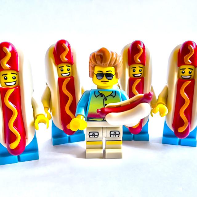 """""""Henry the Hot Dog baron!"""" stock image"""