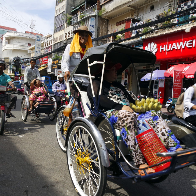 """Cyclos in Phnom Penh."" stock image"