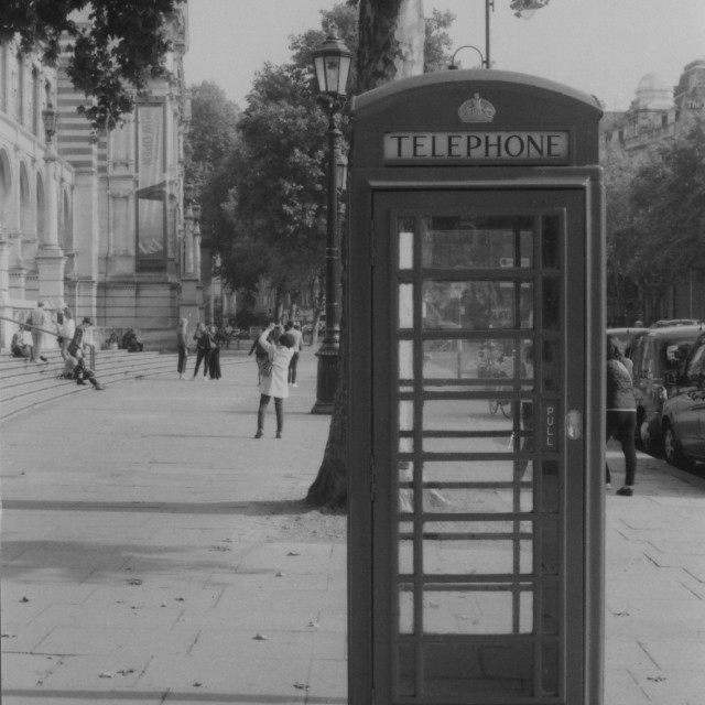 """The Telephone box"" stock image"